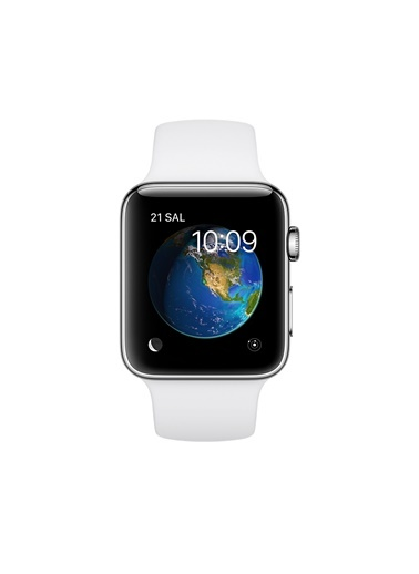 Series 2 38 mm Gümüş Rengi Alüminyum Kasa Beyaz Spor Kordon-Apple